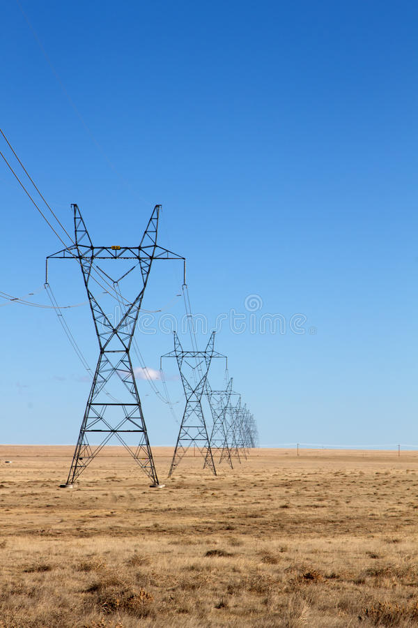 Free Electrical Power Lines Under A Blue Sky Stock Images - 85573734
