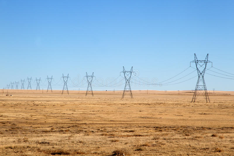 Download Electrical Power Lines Under A Blue Sky Stock Image - Image of high, blue: 85573675