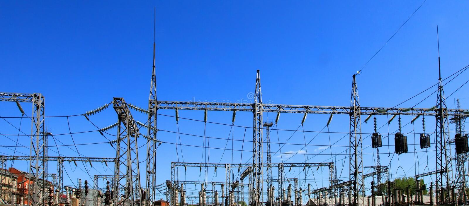 Download Electrical Power Station Royalty Free Stock Image - Image: 14679016