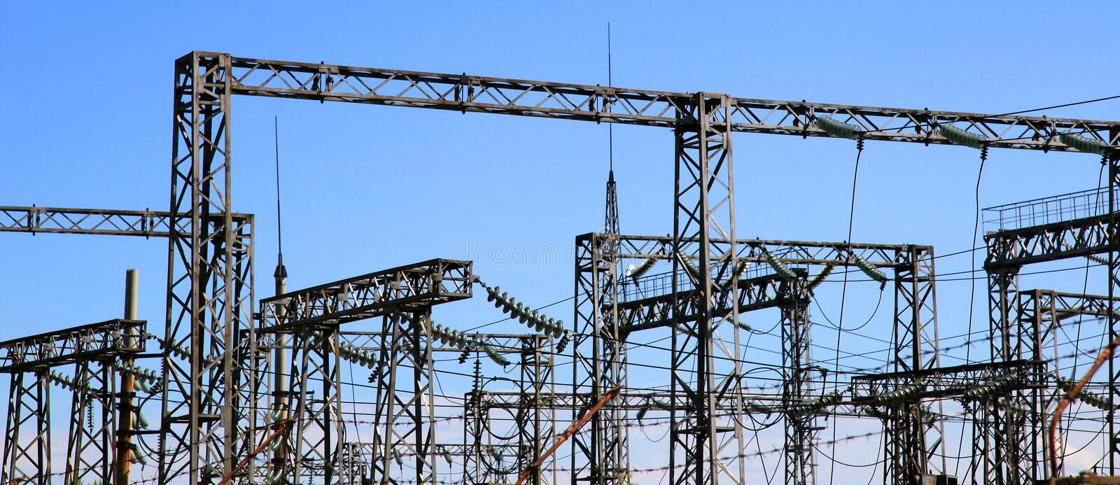 Download Electrical power station stock image. Image of nobody - 15237993