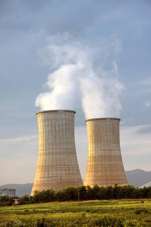 Electrical power station. With lignite stock images