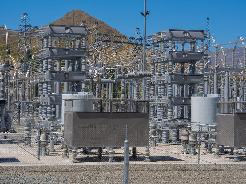 Electrical power transformers stock photos