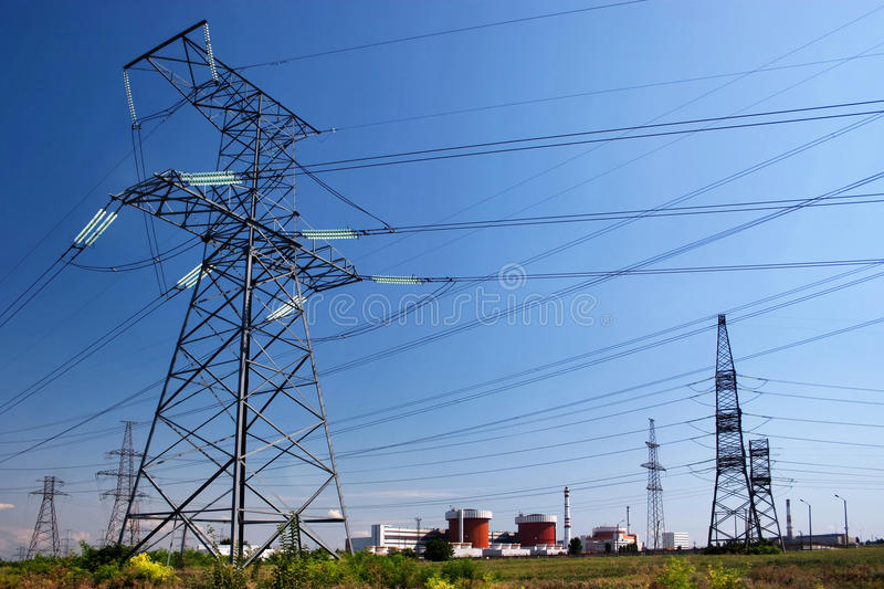 Download Electrical powerlines stock photo. Image of industrial - 10584154