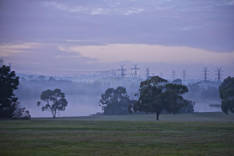 Electrical Pylons royalty free stock images