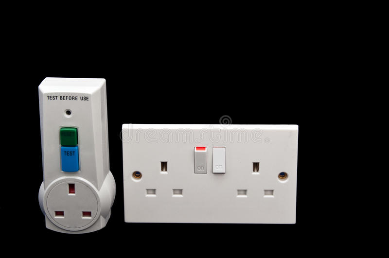 Electrical rcd protection tester royalty free stock image