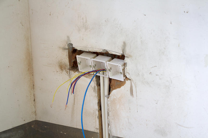 Download Electrical renovation work stock image. Image of collar - 98552347