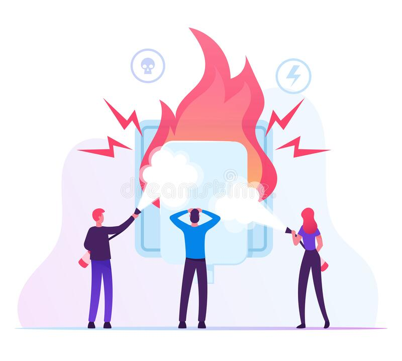 Free Electrical Safety Concept. People With Extinguishers Put Out Electric Wiring Of Socket On Fire. Plug Outlet Shock Power Royalty Free Stock Photo - 169156545