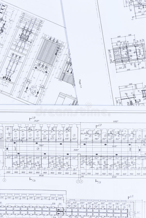 Electrical Scheme And Architectural Plan Stock Image - Image of ...