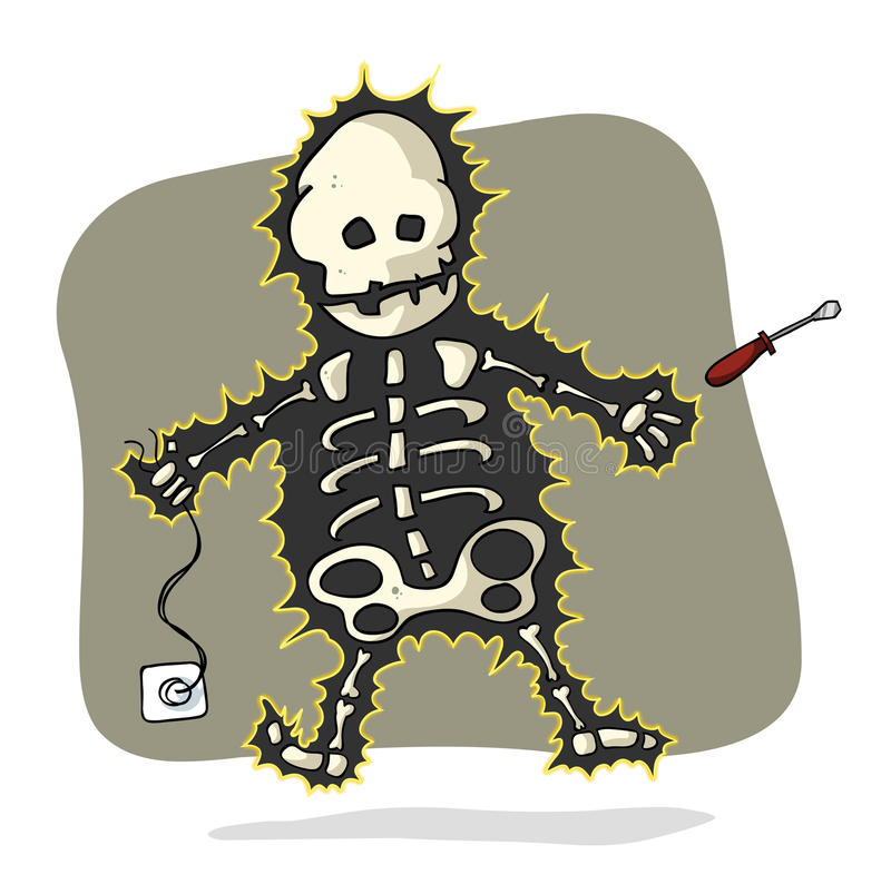 Electrical shock royalty free illustration