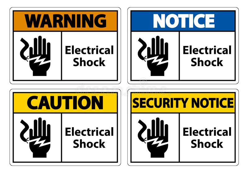 Electrical Shock Electrocution Symbol Sign, Vector Illustration, Isolate On White Background Label .EPS10 vector illustration