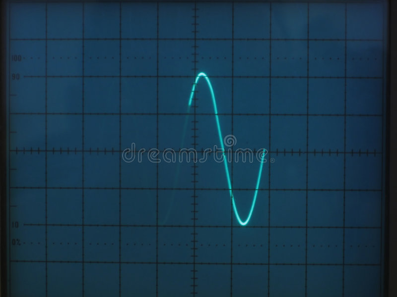 Electrical signals stock image