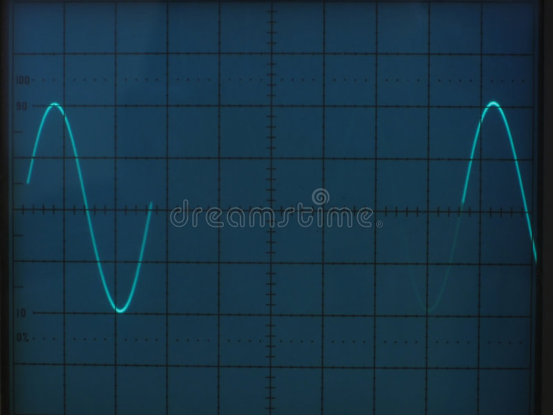 Electrical signals stock photography