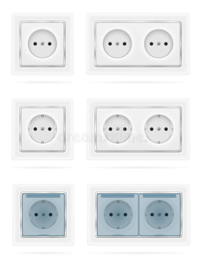 Electrical Switch For Indoor Electricity Wiring Stock Vector Illustration Stock Vector