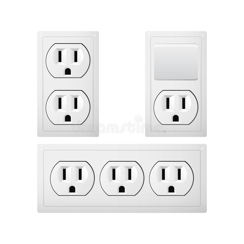 Electrical Socket Type B With Switch. Power Plug. Canada And ...