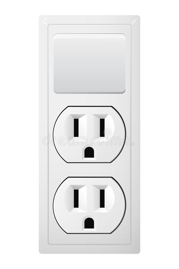 Electrical Socket Type B With Switch. Receptacle From USA. Stock ...