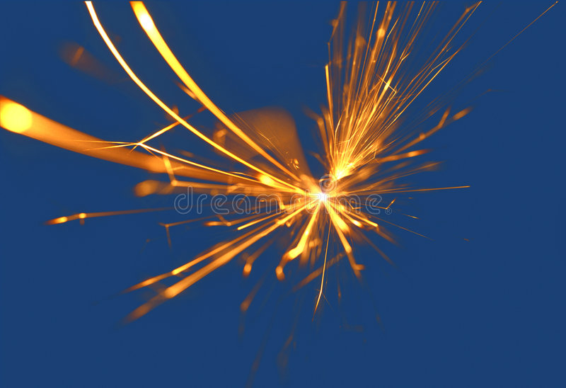 Electrical spark royalty free stock image