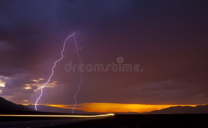 Download Electrical Storm stock photo. Image of sunrise, orange - 25836182