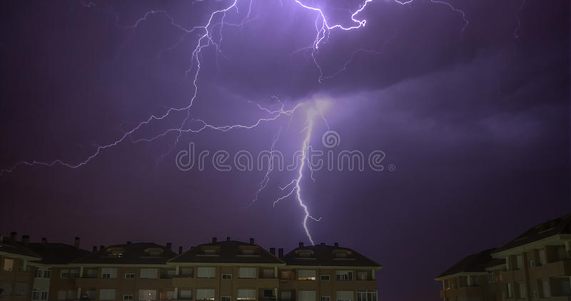 Electrical Storm royalty free stock images