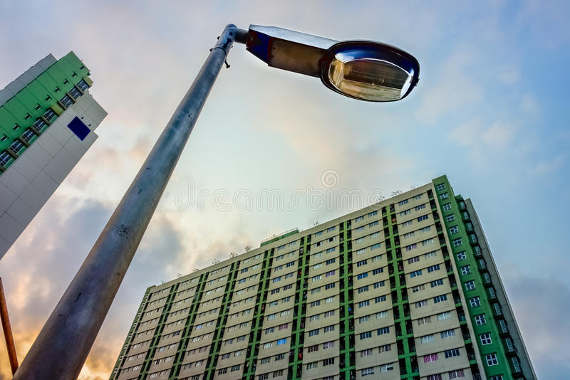 Electrical streetlamp stock image