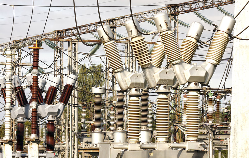 Electrical substation royalty free stock images