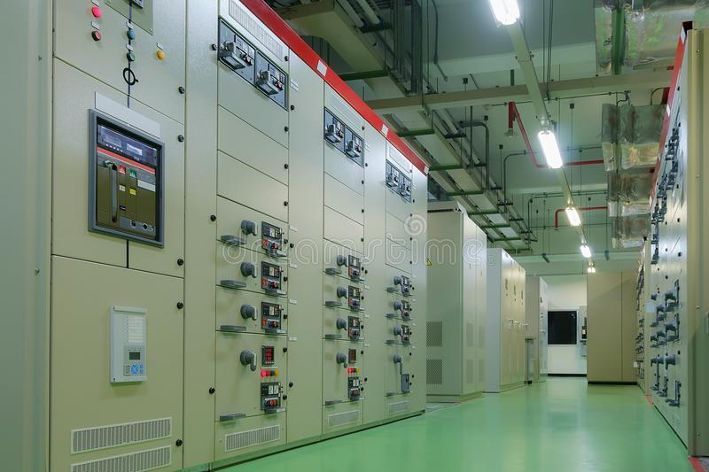 Electrical substation room royalty free stock photos