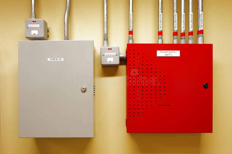 Electrical switch gear and circuit breakers stock photos