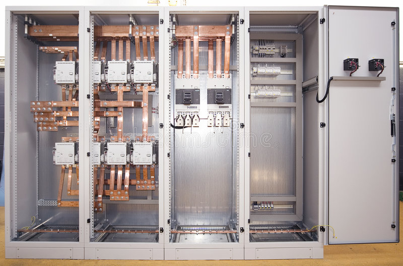 Electrical switchboard stock photography