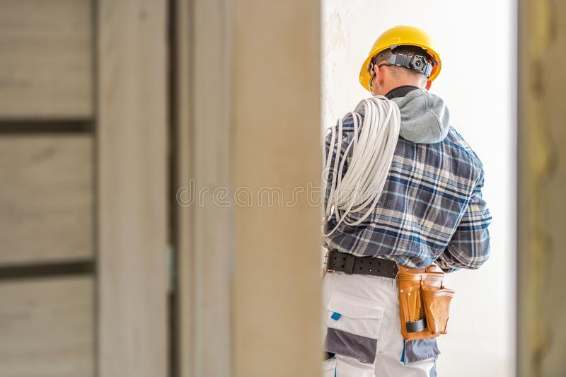 Electric Systems Installer royalty free stock photo