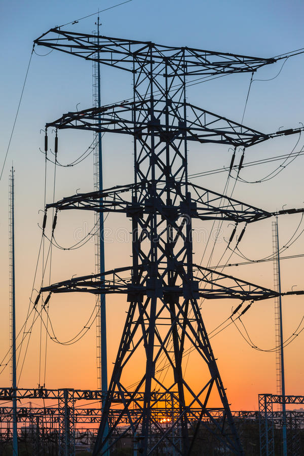 Download Electrical Tower Distribution Station Stock Image - Image: 26545361