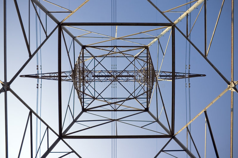Electrical Tower Inside royalty free stock image