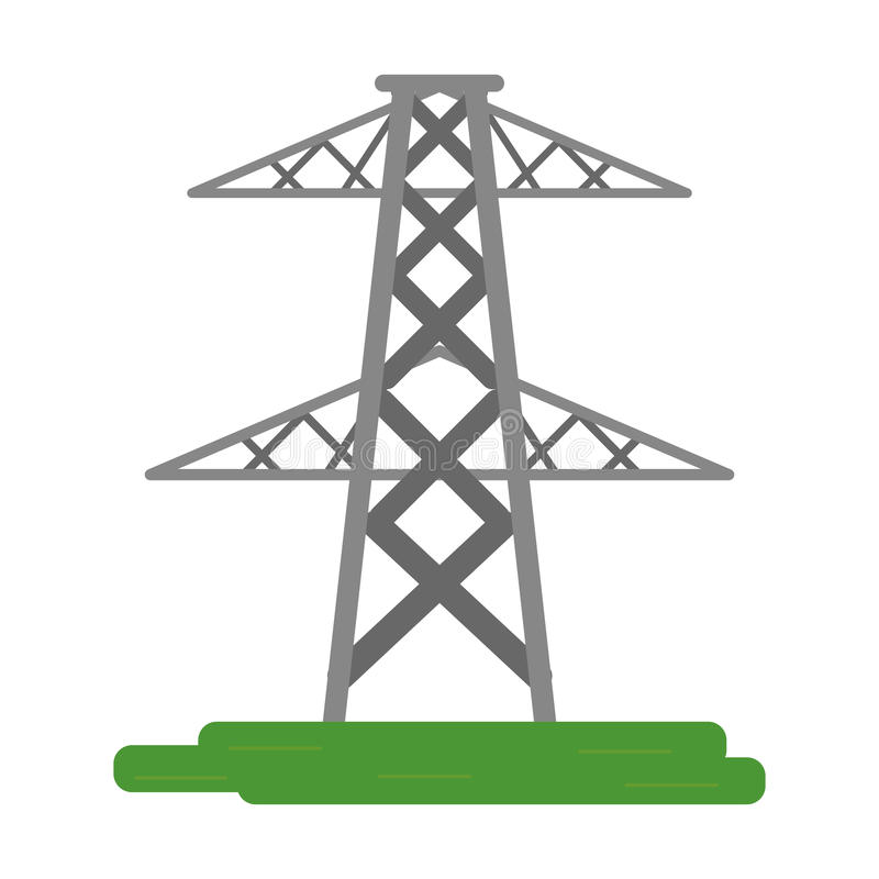Electrical tower transmission energy power stock illustration