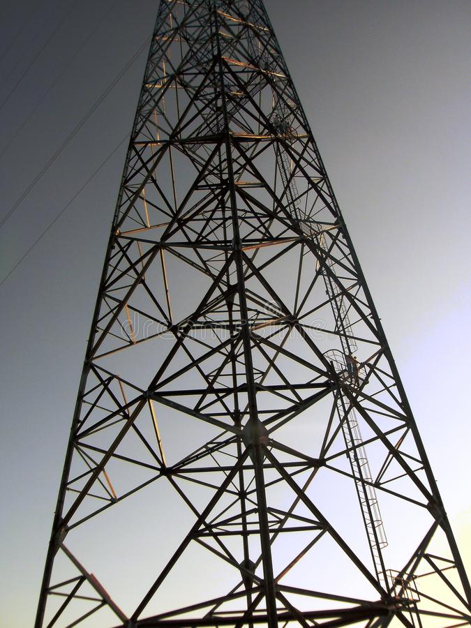 Electrical tower in ukraine at old soviet area stock photography