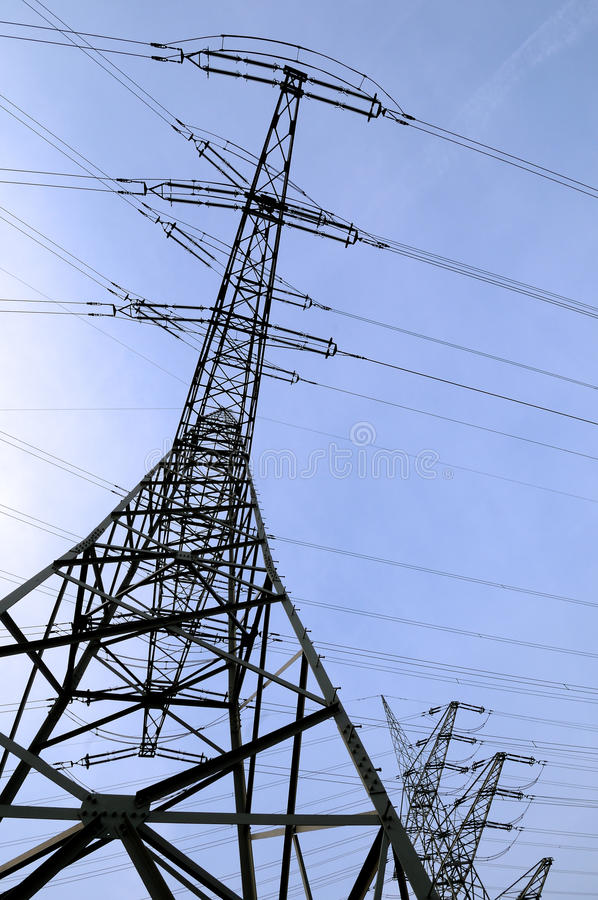 Electrical towers royalty free stock photography