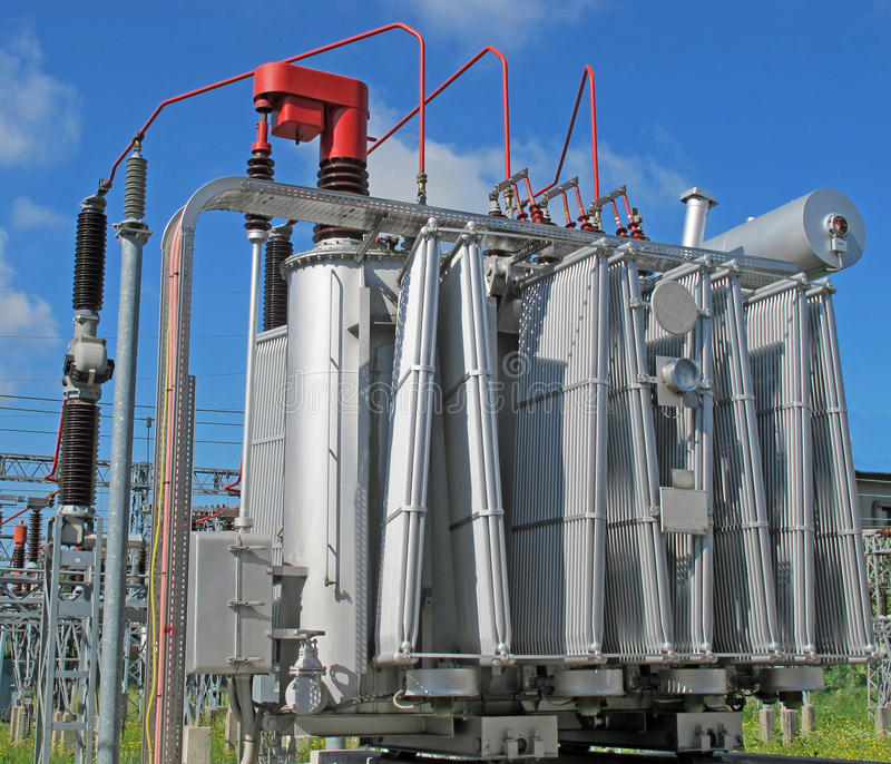 Download Electrical Transformer To A Powerhouse Stock Image - Image: 24671473