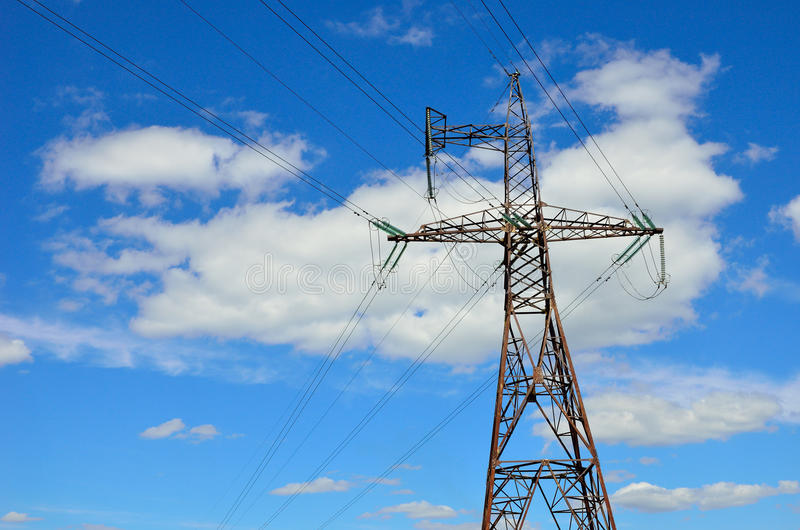 Electrical transmission pylon. royalty free stock image