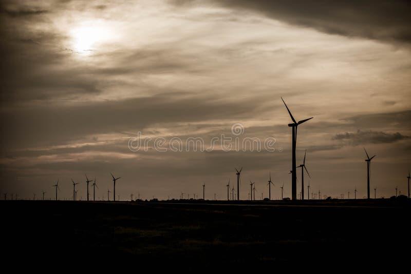 Electrice vindlantgård i kansas royaltyfri fotografi