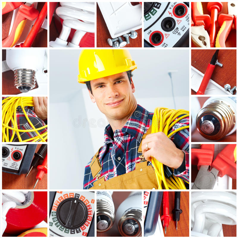 Download Electrician stock image. Image of power, reflective, people - 13137217