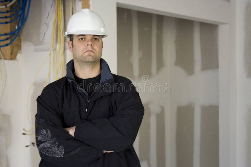 Electrician Contractor royalty free stock image