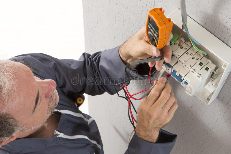 Download Electrician stock photo. Image of improvement, construction - 61135674