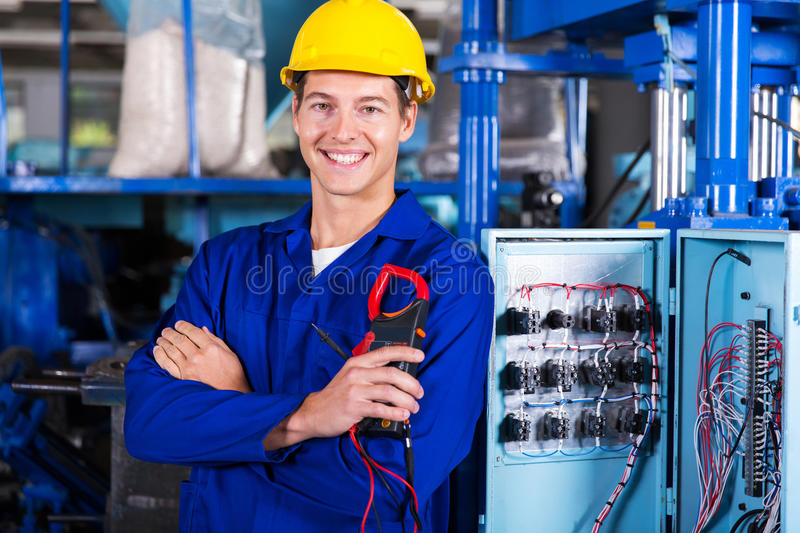 Download Electrician Holding Insulation Stock Image - Image of holding, control: 45399055