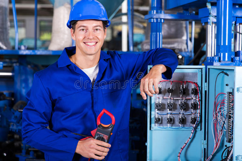 Electrician insulation tester royalty free stock photos