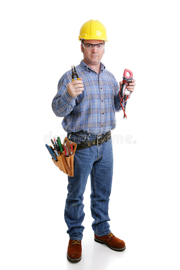 Electrician Ready for Work stock images