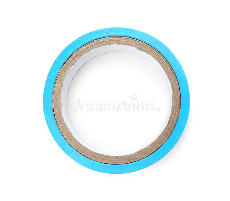 Electrician`s tape on white background. Top view royalty free stock image