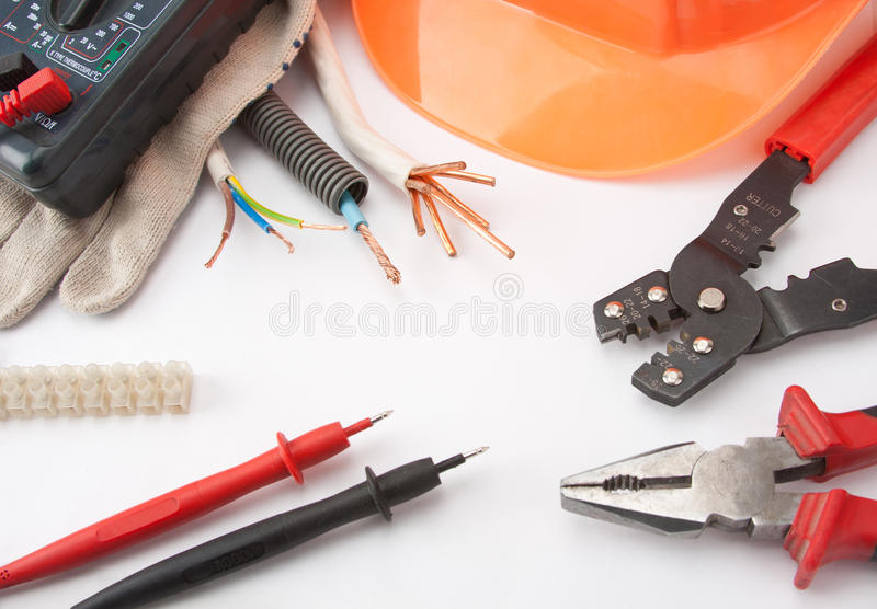 Electrician's tools royalty free stock image