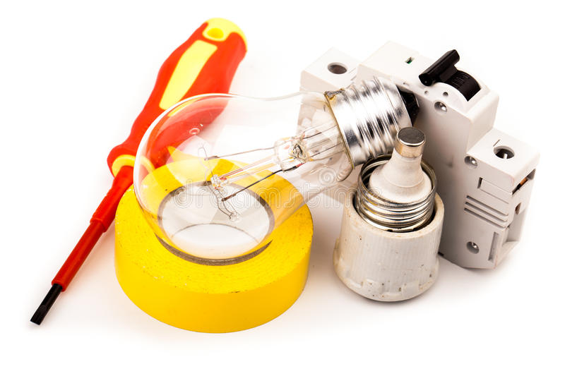 Electrician's tools royalty free stock images