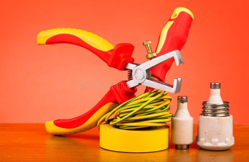 Electrician's tools stock photos