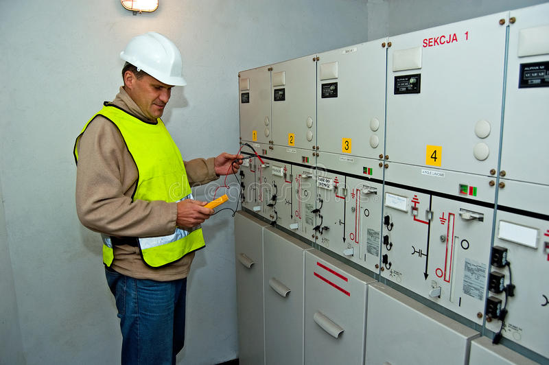 Download Electrician In Switching Power Stock Image - Image: 21976641