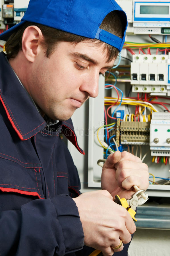 Download Electrician at work stock photo. Image of electrician - 20338984