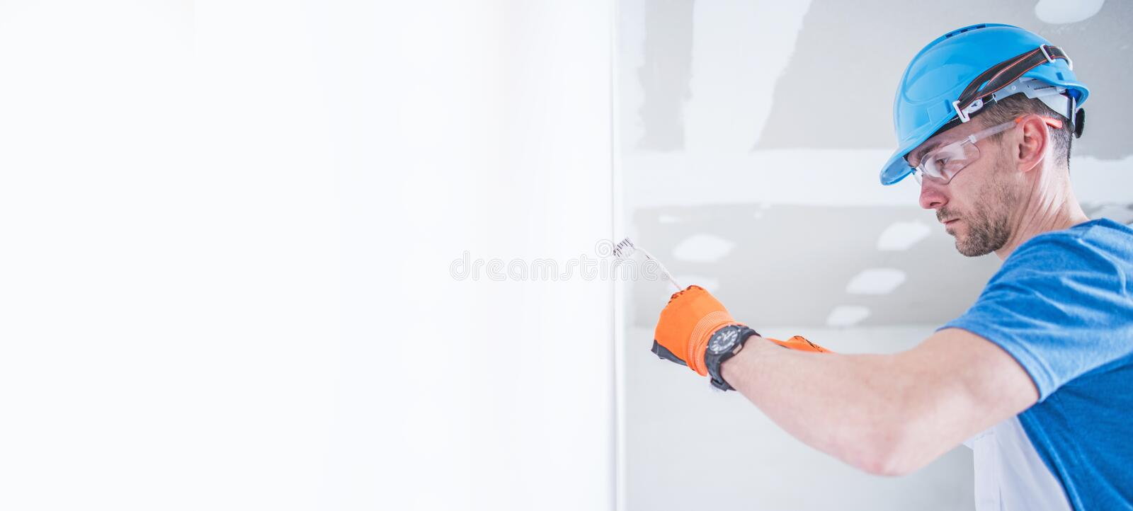Electrician Work Banner stock images