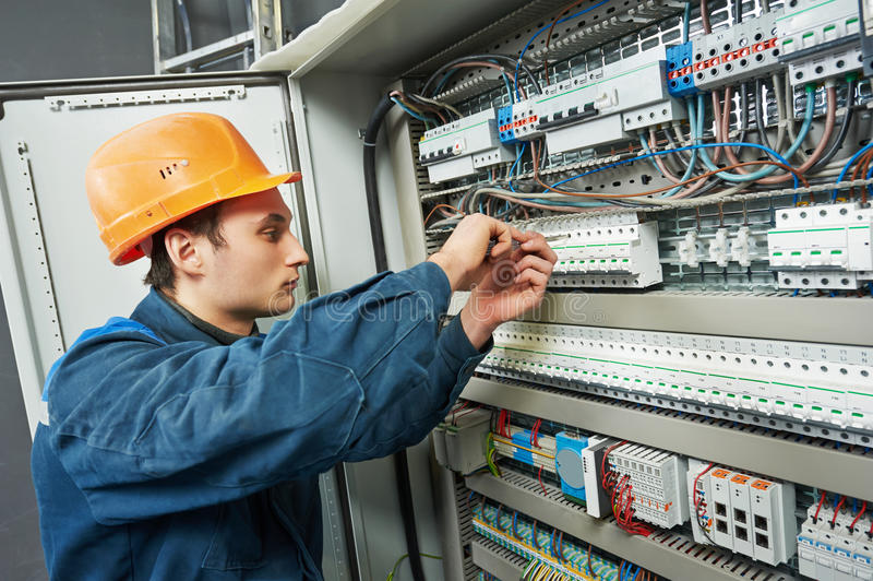 Electrician work royalty free stock images